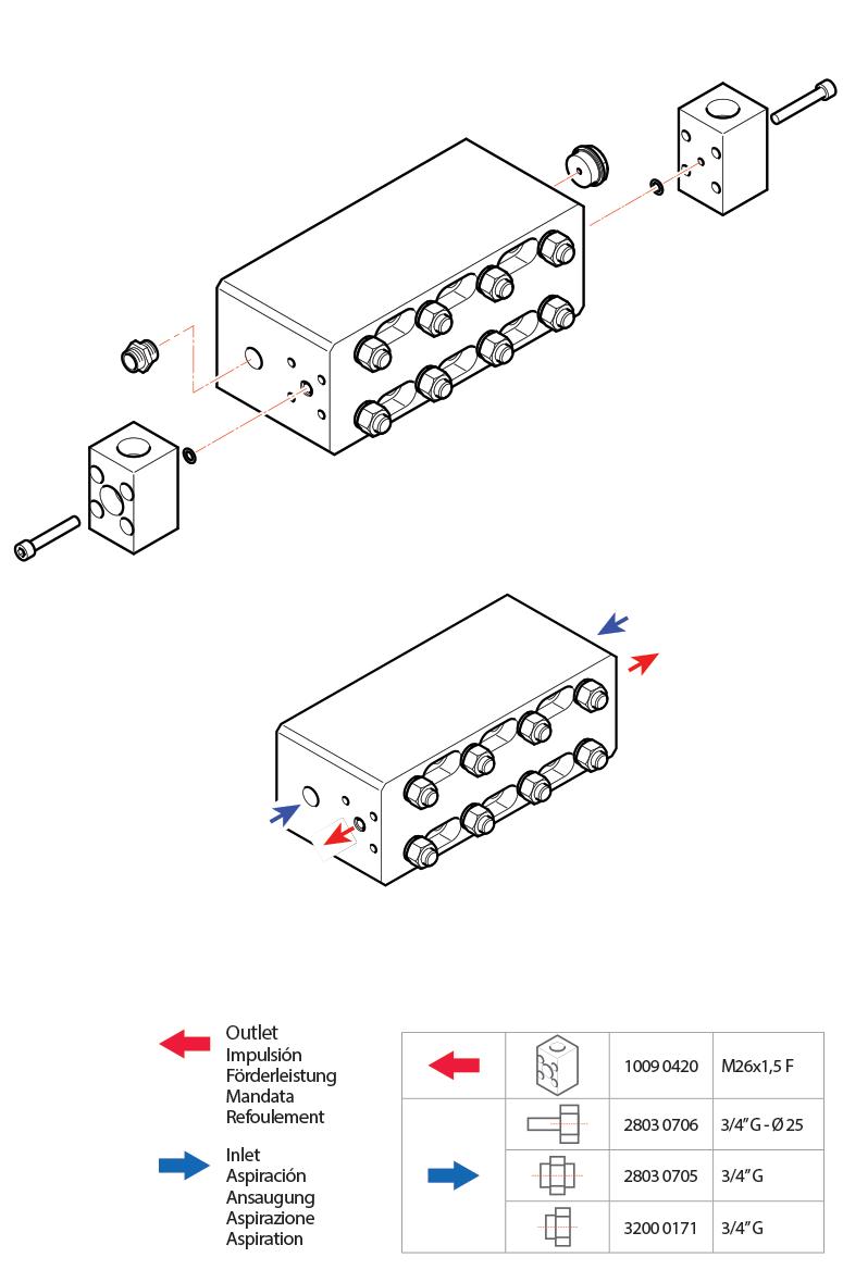 connection kit esv esvr hpp pumps